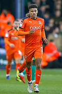 Luton Town defender James Justin (2) during the EFL Sky Bet League 1 match between Luton Town and Plymouth Argyle at Kenilworth Road, Luton, England on 17 November 2018.