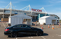 Coronavirus testing centre up and running at Ricoh Arena coventry