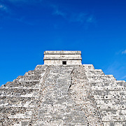 El Castillo (also known as Temple of Kuklcan) at the ancient Mayan ruins at Chichen Itza, Yucatan, Mexico 081216092340_4389x.tif