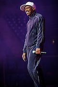 Kurtis Blow performing on the Legends of Hip Hop Tour at the Chaifetz Arena in St. Louis, Missouri on March 12, 2011.