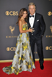 Alec Baldwin (R) and Hilaria Baldwin at the 69th Annual Emmy Awards held at the Microsoft Theater on September 17, 2017 in Los Angeles, CA, USA (Photo by Sthanlee B. Mirador/Sipa USA)
