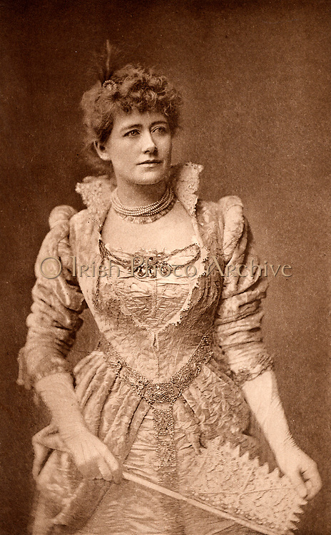 Ellen Alice Terry (1847-1928) English actress.  From 1878 she had a successful 25-year professional partnership with Henry Irving. Here as Beatrice in the comedy 'Much Ado About Nothing' by William Shakespeare. Photogravure c1895.