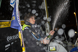 June 6, 2017 - Gijon, ESPAGNE - Sebastien Simon (Bretagne Credit Mutuel Performance) 3eme de la 1ere etape de la Solitaire Urgo Le Figaro 2017 entre Bordeaux et Gijon - Gijon le 06/06/2017 (Credit Image: © Panoramic via ZUMA Press)