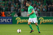 Saint-Etienne Defender Loic Perrin during the Europa League match between Saint-Etienne and Manchester United at Stade Geoffroy Guichard, Saint-Etienne, France on 22 February 2017. Photo by Phil Duncan.