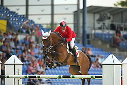Basel Cagri, (TUR), Chaccomo Agostini<br /> Team Competition round 1 and Individual Competition round 1<br /> FEI European Championships - Aachen 2015<br /> © Hippo Foto - Stefan Lafrentz<br /> 19/08/15