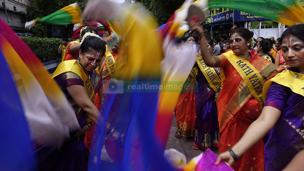 June 25, 2017 - Indian devotees participate in the procession of the Rath Yatra festival in Kolkata, capital of eastern Indian state West Bengal. (Credit Image: © Tumpa Mondal/Xinhua via ZUMA Wire)