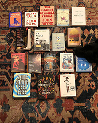 """Nicole Richie releases a photo on Instagram with the following caption: """"My favorite books that I read this year, and also, my dogs head."""". Photo Credit: Instagram *** No USA Distribution *** For Editorial Use Only *** Not to be Published in Books or Photo Books ***  Please note: Fees charged by the agency are for the agency's services only, and do not, nor are they intended to, convey to the user any ownership of Copyright or License in the material. The agency does not claim any ownership including but not limited to Copyright or License in the attached material. By publishing this material you expressly agree to indemnify and to hold the agency and its directors, shareholders and employees harmless from any loss, claims, damages, demands, expenses (including legal fees), or any causes of action or allegation against the agency arising out of or connected in any way with publication of the material."""