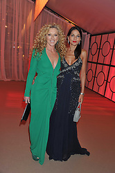 Left to right, KELLY HOPPEN and YASMIN MILLS at the Raisa Gorbachev Foundation Gala held at the Stud House, Hampton Court, Surrey on 22nd September 22 2011