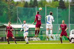 Egzon KRYEZIU vs Janez PISEK during Football match between NK Triglav Kranj and NK Celje, on May 12, 2019 in Sport center Kranj, Kranj, Slovenia. Photo by Peter Podobnik / Sportida