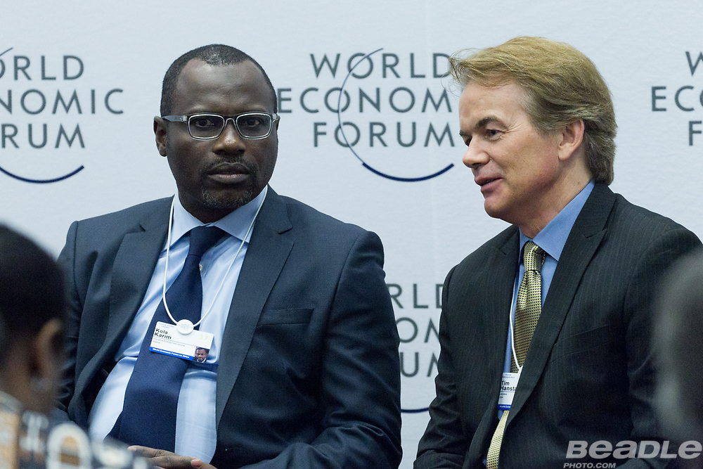 Kola Karim, Group Managing Director and Chief Executive Officer<br /> Shoreline Natural Resources and Tim Hanstad, Co-Founder and Senior Adviser<br /> Landesa at the World Economic Forum on Africa 2017 in Durban, South Africa. Copyright by World Economic Forum / Greg Beadle