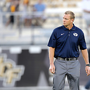 ORLANDO, FL - OCTOBER 09:  BYU head coach Bronco Mendenhall is seen at Bright House Networks Stadium on October 9, 2014 in Orlando, Florida. (Photo by Alex Menendez/Getty Images) *** Local Caption *** Bronco Mendenhall