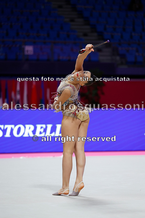 Urso Candela during the Pesaro World Championships at the Virtifrigo Arena on May 28-29, 2021.<br /> She is an Argentine individual rhythmic gymnast born on February 10, 2003 at Villa Ballester.