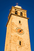 Bell tower and clock, Skradin, Dalmatia, Croatia