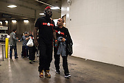 Houston, Texas - February 19, 2016: Dada 5000 arrives for his fight against Kimbo Slice during Bellator 149 at the Toyota Center in Houston, Texas on February 19, 2016. (Cooper Neill for ESPN)