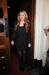 Singer KIMBERLEY WALSH at a Christmas Carol service in aid of Breast Cancer Haven held at St.Paul's Knighsbridge, Wilton Place, London on 8th December 2009.