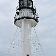 Whitefish Point Light On The Shores Of Lake Superior On An Overcast Day