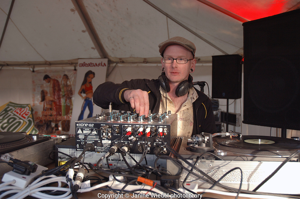 DJ running sound system at London festival.