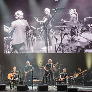 WASHINGTON, DC - October 16th, 2015 - G.E. Smith and Roger Waters (middle) perform with the Music Corps band at the Music Heals benefit concert at DAR Constitution Hall in Washington, D.C. The concert benefits Music Corps, an organization that helps injured veterans play music and adjust to postwar life. (Photo by Kyle Gustafson / For The Washington Post)