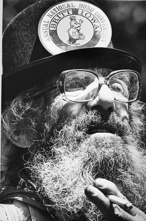©1975  Britt, Iowa National Hobo Convention participant.