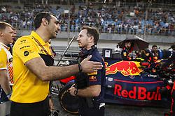 April 8, 2018 - Sakhir, Bahrain - ABITEBOUL Cyril (fr), Renault Sport F1 Managing Director, HORNER Christian  (gbr), Team Principal of Red Bull Racing, portrait during 2018 Formula 1 FIA world championship, Bahrain Grand Prix, (Credit Image: © Hoch Zwei via ZUMA Wire)
