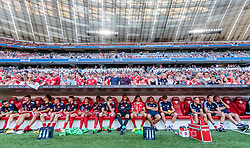02.08.2017, Allianz Arena, Muenchen, GER, Audi Cup, FC Bayern Muenchen vs SSC Neapel, Spiel um Platz 3, im Bild Bayern Ersatzbank // during the Audi Cup 3rd place Match between FC Bayern Munich  and SSC Napoli at the Allianz Arena, Munich, Germany on 2017/08/02. EXPA Pictures © 2017, PhotoCredit: EXPA/ JFK