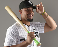 GLENDALE, ARIZONA - FEBRUARY 21:  Jose Abreu #79 of the Chicago White Sox poses for a portrait during White Sox photo day on February 21, 2019 at Camelback Ranch in Glendale Arizona.  (Photo by Ron Vesely)  Subject:  Jose Abreu
