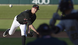 May 22, 2018 - U.S. - ASEC -- The Isotopes Jeff Hoffman pitches to Salt Lake during the game in Isotopes Park on Tuesday, May 22, 2018. (Credit Image: © Greg Sorber/Albuquerque Journal via ZUMA Wire)