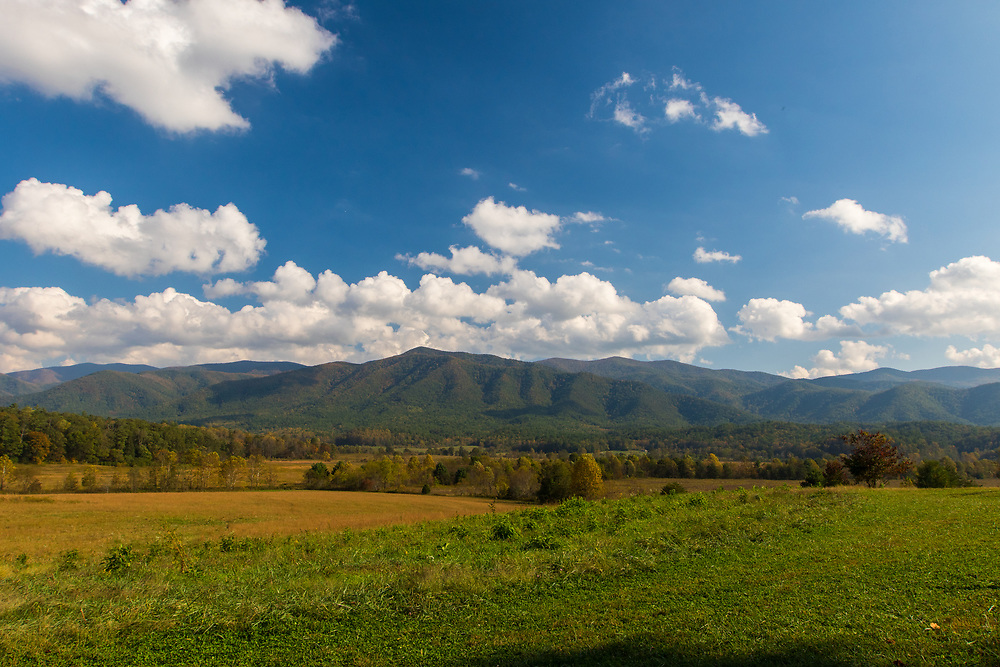 October 11, 2017: View from Cades Cove Loop Road.
