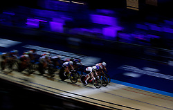 Riders led by Great Britain's Laura Kenny take part in the Elimination Race element of the Women's Omnium, during day one of the Six Day Series at the HSBC National Cycling Centre, Manchester.