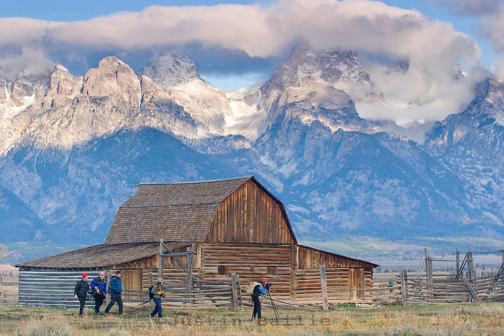 Scenic of photographers creating photos in Grand Teton National Park, WY