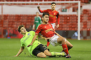 Brighton U18 Jayson Molumby  during the FA Youth Cup match between U18 Nottingham Forest and U18 Brighton at the City Ground, Nottingham, England on 10 December 2015. Photo by Simon Davies.