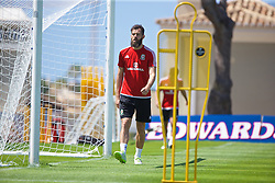 VALE DO LOBO, PORTUGAL - Wednesday, May 25, 2016: Wales' Joe Ledley during day two of the pre-UEFA Euro 2016 training camp at the Vale Do Lobo resort in Portugal. (Pic by David Rawcliffe/Propaganda)