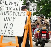 Motorcycle Week at Lakeside Avenue.  Karen Bobotas for the Laconia Daily Sun