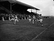 O'Neill, J. (extreme right) winning 100 yard final at NACA Championships at Iveagh Grounds, Crumlin.06/07/1952