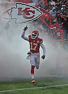 KANSAS CITY, MO - NOVEMBER 24:  Wide receiver Donnie Avery #17 of the Kansas City Chiefs gets introduced before a game against the San Diego Chargers on November 24, 2013 at Arrowhead Stadium in Kansas City, Missouri. (Photo by Peter G. Aiken/Getty Images) *** Local Caption *** Donnie Avery