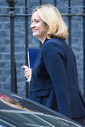 Downing Street, London, October 11th 2016. Government ministers arrive for the first post-conference cabinet meeting. PICTURED: Home Secretary Amber Rudd