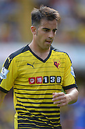 Jose Manuel Jurado of Watford looks on. Barclays Premier League, Watford v Southampton at Vicarage Road in London on Sunday 23rd August 2015.<br /> pic by John Patrick Fletcher, Andrew Orchard sports photography.