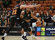 Supercity Rangers Don Kelman-Poto looks for a gap in the Sal's Pizza NBL Round 8 match, Hawkes Bay Hawks vs Auckland Rangers, Pettigrew Green Arena, Napier, Saturday, June 16, 2018. Copyright photo: Kerry Marshall / www.photosport.nz