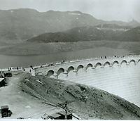 1925 Hollywoodland sign from Lake Hollywood Dam
