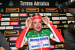 March 15, 2019 - Foligno, Perugia, Italia - Foto Gian Mattia D'Alberto / LaPresse.15/03/2019 Foligno (Italia) .Sport Ciclismo.Tirreno-Adriatico 2019 - edizione 54 - da Pomarance a Foligno  (226 km) .Nella foto:  Elia Viviani ITA, in conferenza stampa..Photo Gian Mattia D'Alberto / LaPresse .March 15, 2018 Foligno (Italy).Sport Cycling.Tirreno-Adriatico 2019 - edition 54 - Pomarance to Foligno (140 miglia) .In the pic:  Elia Viviani ITA, in the press conference (Credit Image: © Gian Mattia D'Alberto/Lapresse via ZUMA Press)