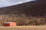 Cornwall, New York - A view of Schunnemunk Mountain from Clove Brook Farm on  March 18, 2019.
