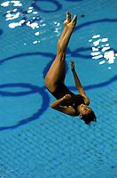26/08/04 - ATHENS  - GREECE -  OLYMPICS GAMES 2004 - DIVING - Women 3m. Springboard final.<br />PAOLA ESPINOSA from Mexico.<br />© Gabriel Piko / Argenpress.com / Piko-Press