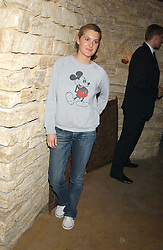LADY KINVARA BALFOUR at a fundraising party ay Umbaba nightclub, London on 5th April 2005 for Hugh Van Cutsem and brothers DOM and IAN ROBERTSON who intend to compete in the Marathon de Sables - 140 mile journey across the Sahara Desert in 7 days.  Money raised will go to their chosen charities the Fara Foundation and the Ian Maclay Leukaemia Trust.<br />