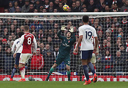 Arsenal goalkeeper Petr Cech saves an effort on goal during the Premier League match at the Emirates Stadium, London.