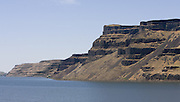 The Columbia River flows through Wallula Gap in southern Washington near Pasco. This view is from the Oregon side looking across the Columbia to the Washington shore. (Steve Ringman / The Seattle Times)