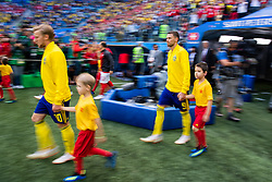 July 3, 2018 - St Petersburg, Russia - 180703 Marcus Berg of Sweden enters the pitch prioir to the FIFA World Cup round of 16 match between Sweden and Switzerland on July 3, 2018 in ST Petersburg..Photo: Petter Arvidson / BILDBYRÃ…N / kod PA / 87748 (Credit Image: © Petter Arvidson/Bildbyran via ZUMA Press)