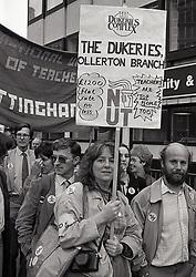National Union of Teachers march Nottingham September 1985