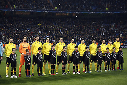 December 6, 2017 - Madrid, Spain - The alignment of Borussia Dortmund during the champions anthem before the UEFA Champions League group H match between Real Madrid and Borussia Dortmund at Santiago Bernabéu. (Credit Image: © Manu_reino/SOPA via ZUMA Wire)