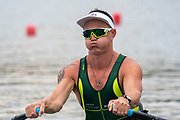 Poznan, POLAND, 21st June 2019, Friday, Morning Heats, AUS PR M1X, Erik HORRIE,   FISA World Rowing Cup II, Malta Lake Course, © Peter SPURRIER/Intersport Images,<br /> <br /> 08:59:53