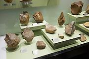 Prehistoric stone hand tools archaeology museum, Jerez de la Frontera, Cadiz Province, Spain
